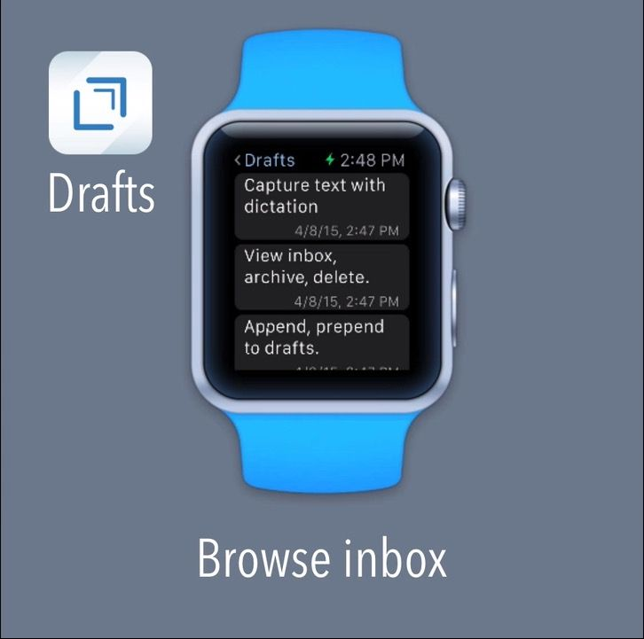 Drafts is coming to Apple Watch. Photo: Agile Tortoise