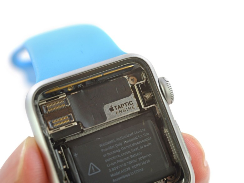 The guts of the Apple Watch are shockingly inexpensive. Photo: iFixit