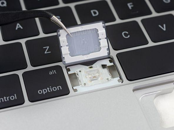 Apple's innovative butterfly key mechanisms. Photo: iFixit