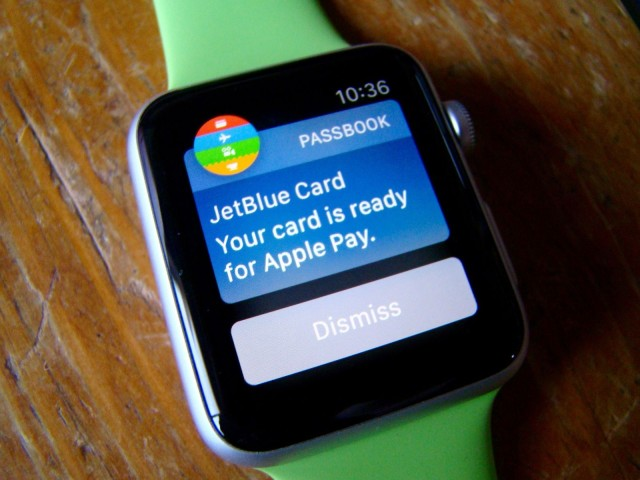 Apple Pay on Apple Watch.