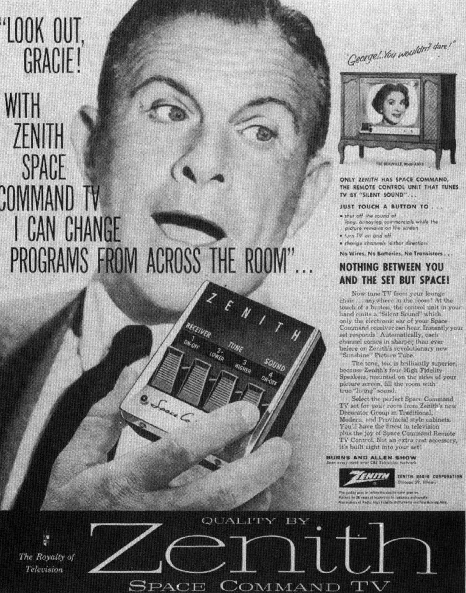 First TV remotes made sedentary lifestyle a click away
