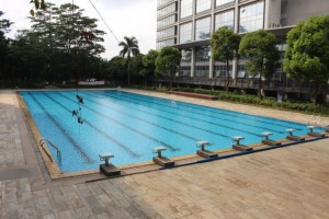 A Foxconn pool for employees. Photo: Re/code