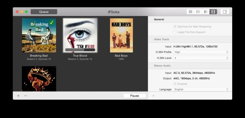 iFlicks makes it easy to import all your videos into iTunes. Photo: iFlicks