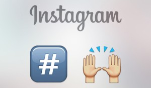 Instagram users can now add emoji to hashtags. Illustration: Instagram