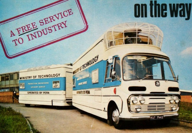 The mobile cinema as it looked in the late 1960s. Advertising photo courtesy of Vintage Mobile Cinema
