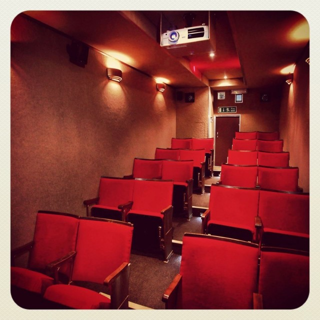 The 22-seat theater has climate control, surround sound and an HD projector. Photo: Vintage Mobile Cinema