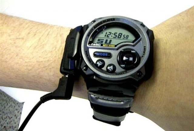 Casio put an MP3 player in this watch in 2000. Worked great as long as you did not have a huge music library. Photo: Casio