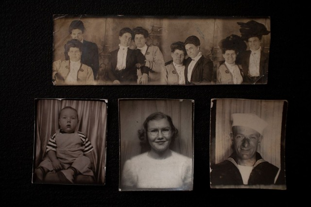 An assortment of vintage photo booth photos. Photo: David Pierini/Cult of Mac