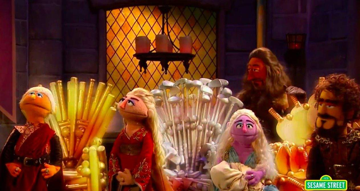 Get ready for Game of Chairs. Photo: Sesame Street