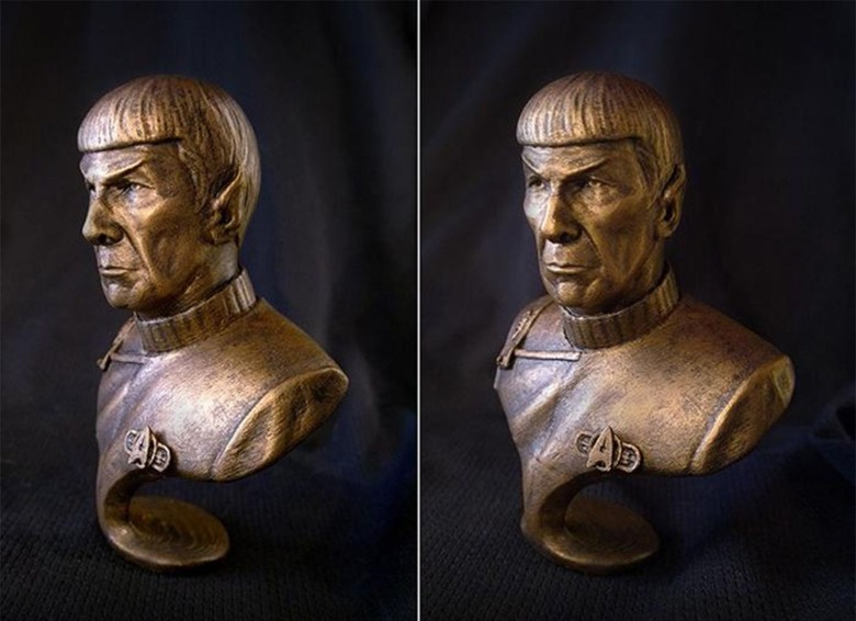 Phi Vu, a 3D artist in the film, television and video game industry, recently made a 3D-printed bust of Star Trek's Mr. Spock. Photo: Phi Vu