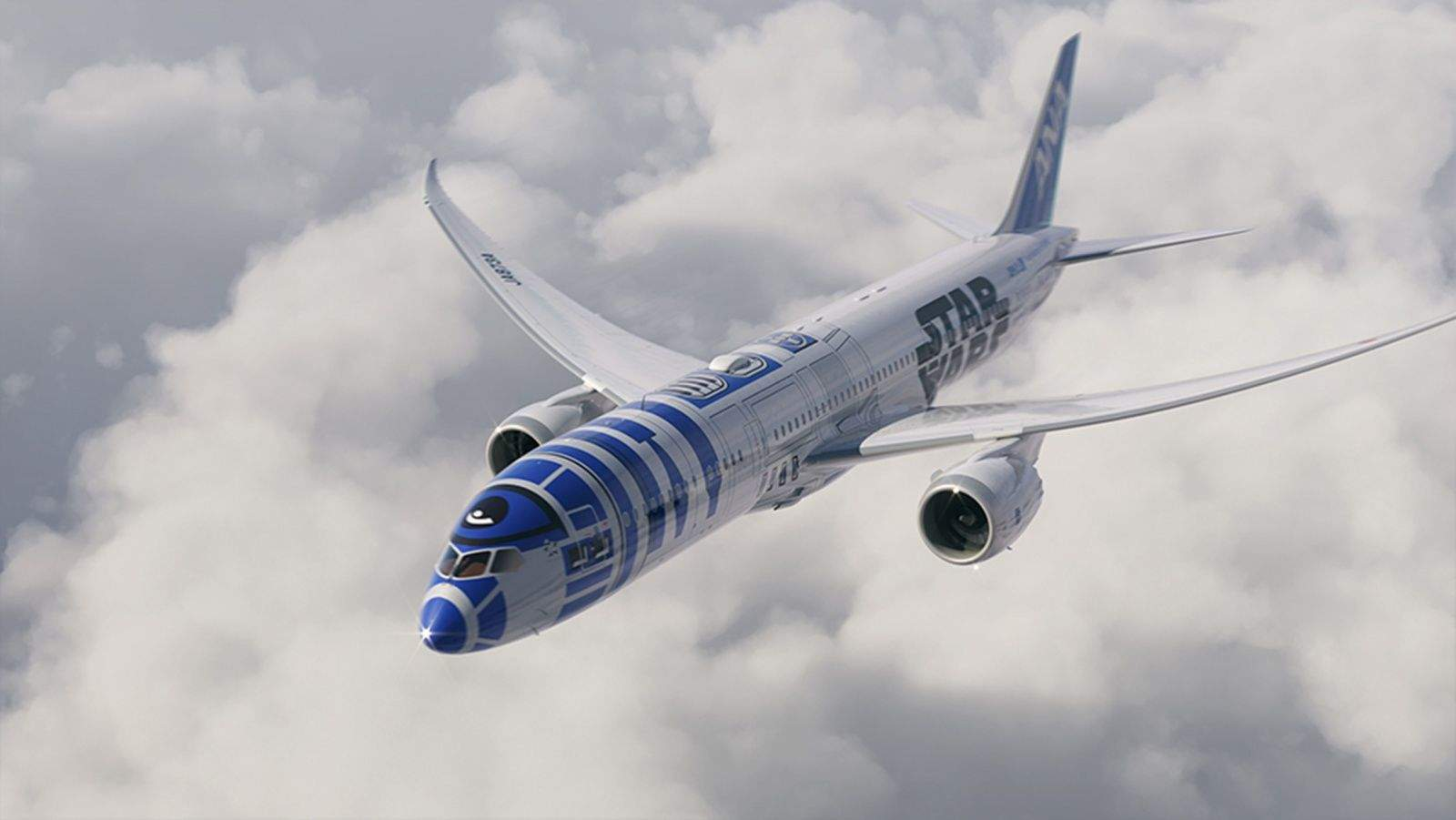 R2-D2 graces the outside of  this Boeing 787-9 Dreamliner that will fly this fall for All Nippon Airways. Photo: All Nippon Airways.