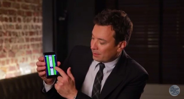 Jimmy Fallon brings fun and feathers to his game Tedzy, which launched on iTunes Thursday. Photo: Sparklehorse/YouTube