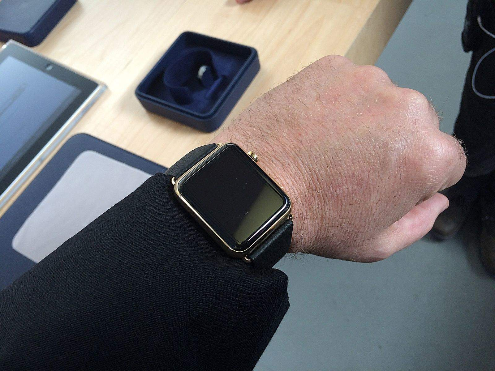 The $10,000 gold Apple Watch Edition, the first and only time I will probably every wear an expensive timepiece.