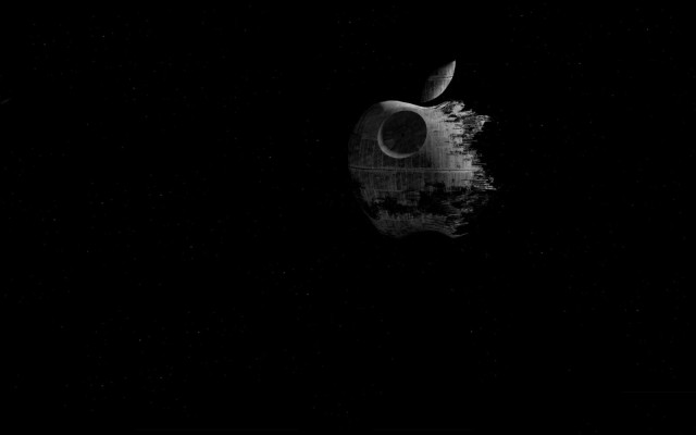 The iconic Death Star image gets remade in Cupertino's honor.