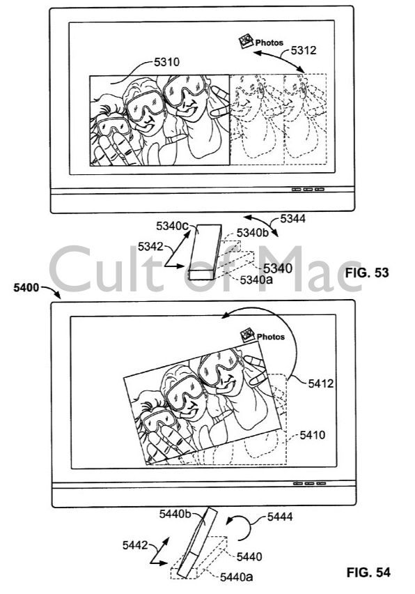 Your TV could be used for a spot of photo editing. Photo: USPTO
