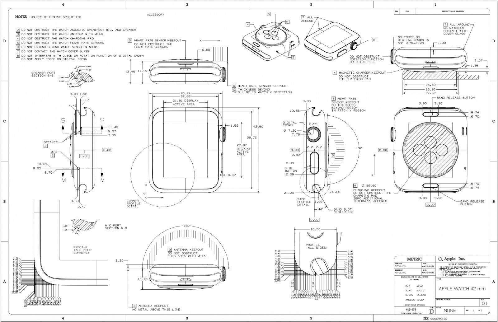 design nerds will love this beautiful apple watch schematic Schematic Design Drawings