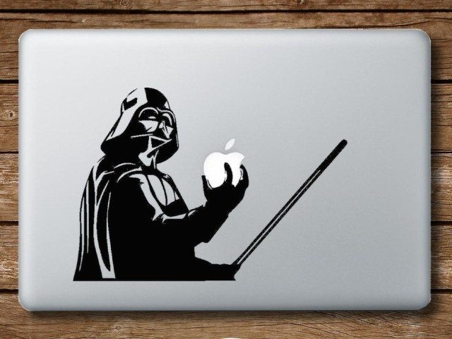 The Sith lord becomes a stick-on lord. Photo: StickMyMac/Etsy