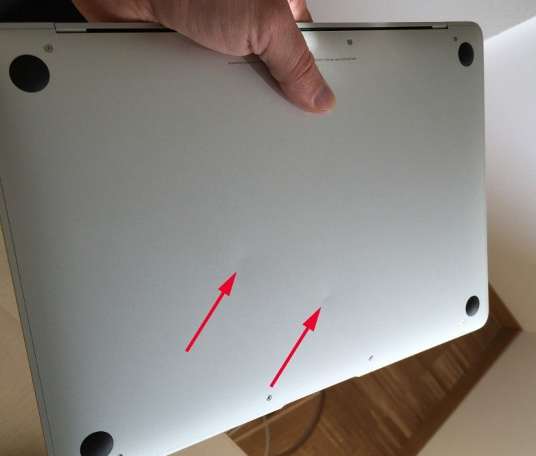 Some users are complaining their new MacBooks come pre-dented. Photo: