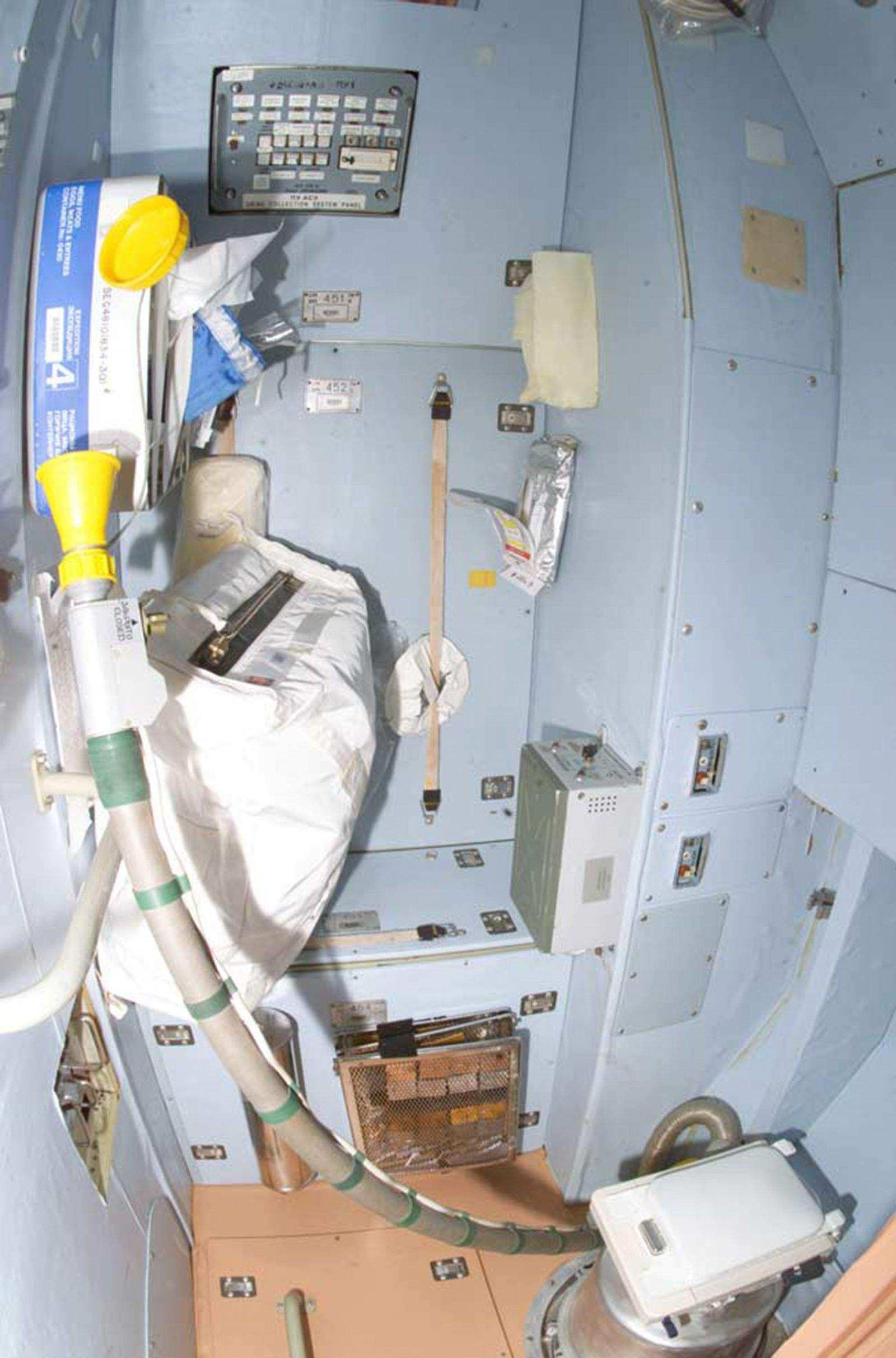 How astronauts use the bathroom - This Picture Shows The Bathroom On