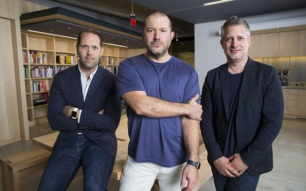 Alan Dye, Jony Ive and Richard Howarth.