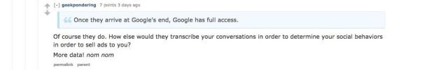 Reddit user geekpondering knows how Google works. Screencap: Reddit