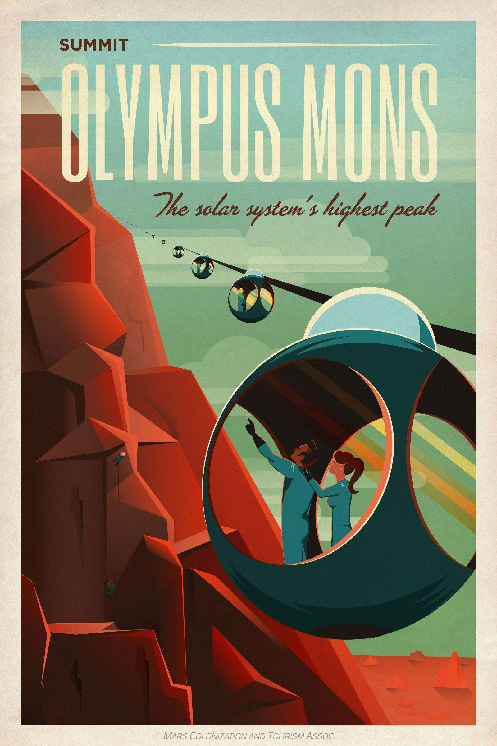 spacex u0026 39 s retro space travel posters will seduce you to mars