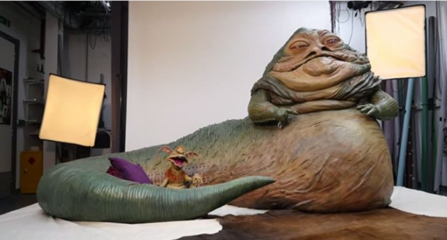 Jabba the Hutt is ready for his closeup.