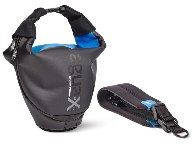 The designers of the Agua bag say it will keep a camera and small lens dry in any weather.