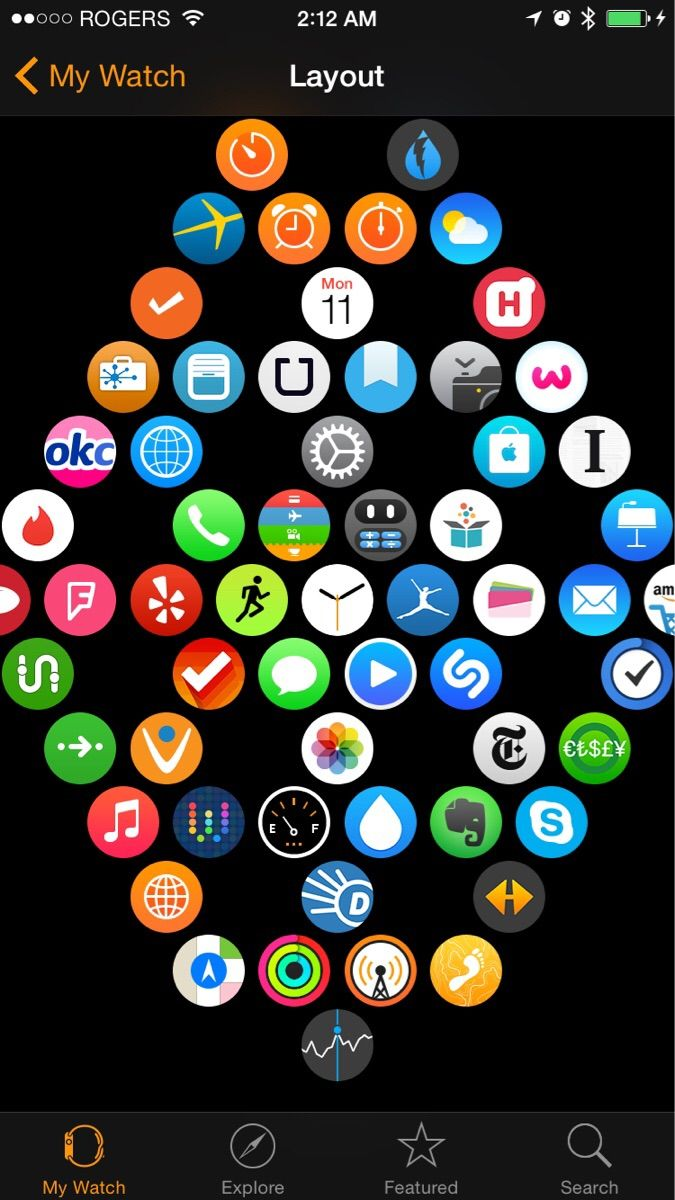 Home Layout App scientifically perfect way to organize your apple watch apps