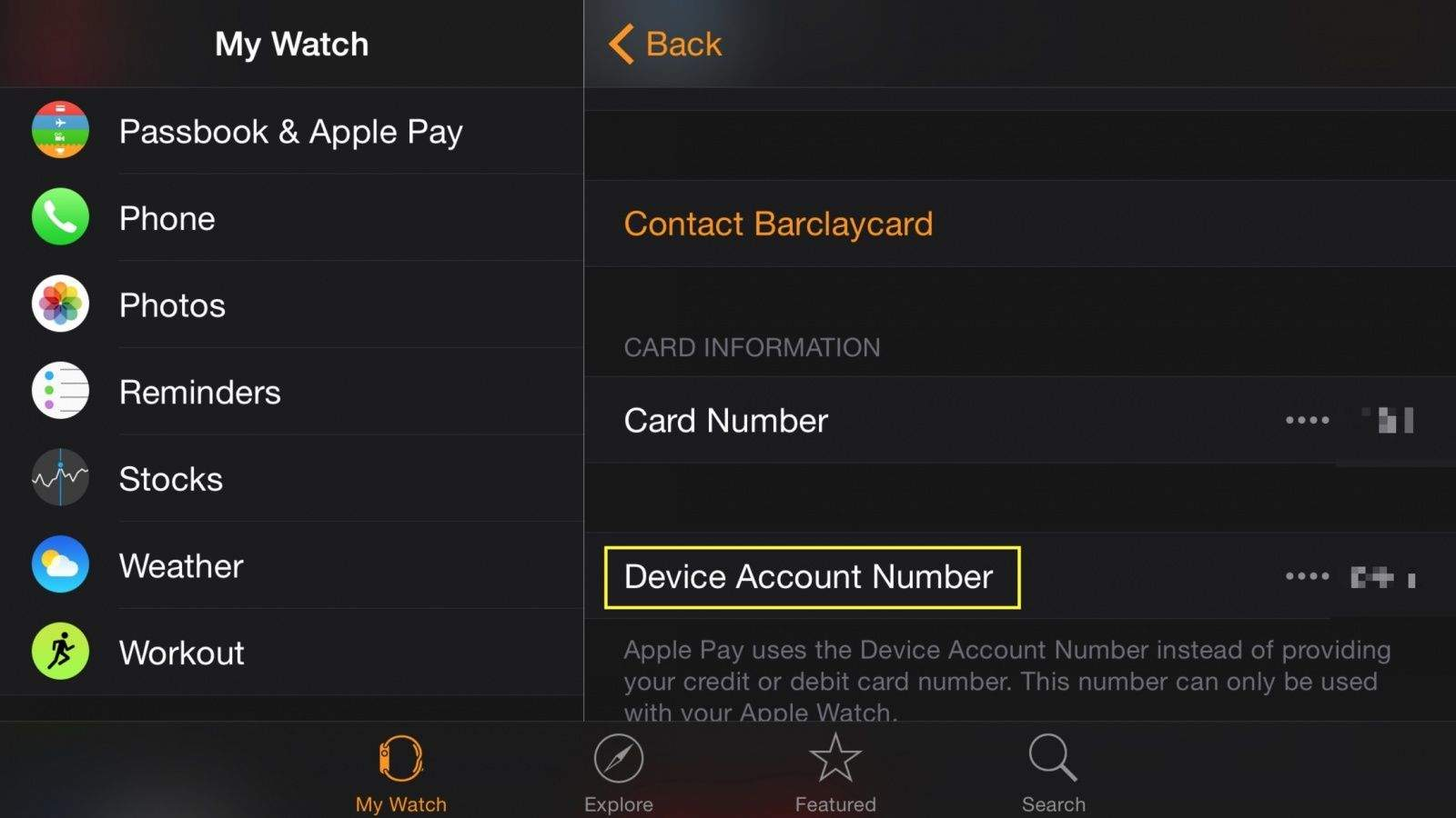 Find your Device Account Number for Apple Pay | Cult of Mac