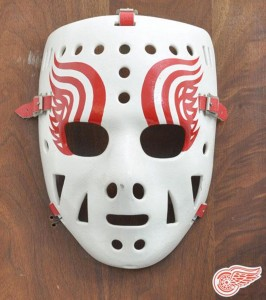 Jimmy Rutherford's mask for the Detroit Red Wings.