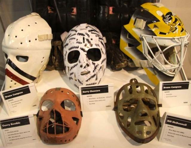 The evolution of the goalie mask.