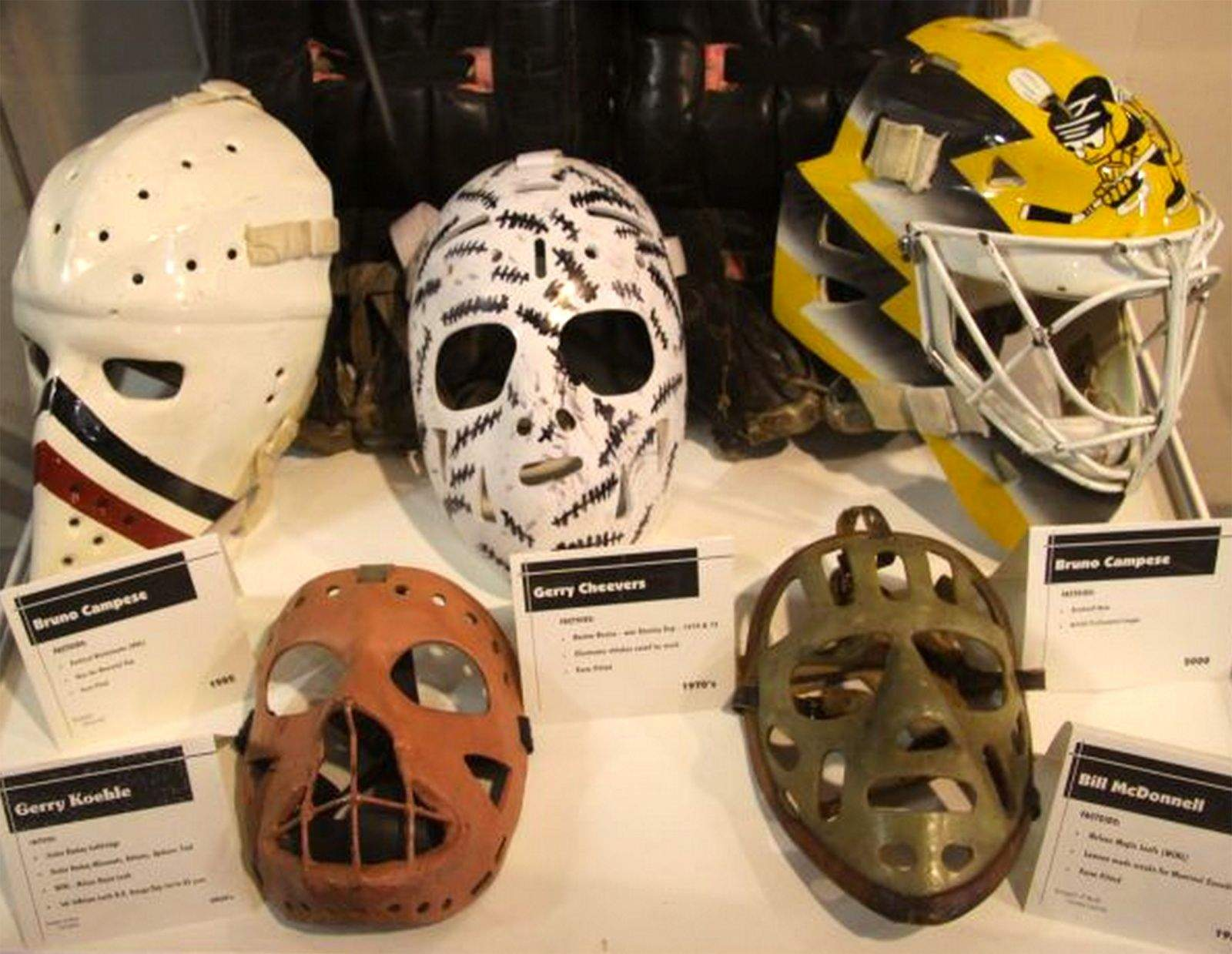 Hockey S Goalie Mask Saved Face And Grew Into Work Of Art