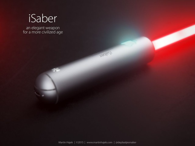 This is what an Apple lightsaber would look like. Photo: Martin Hajek