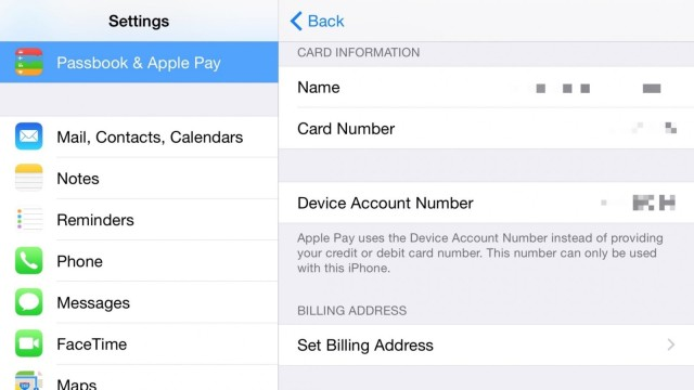 iphone device account number
