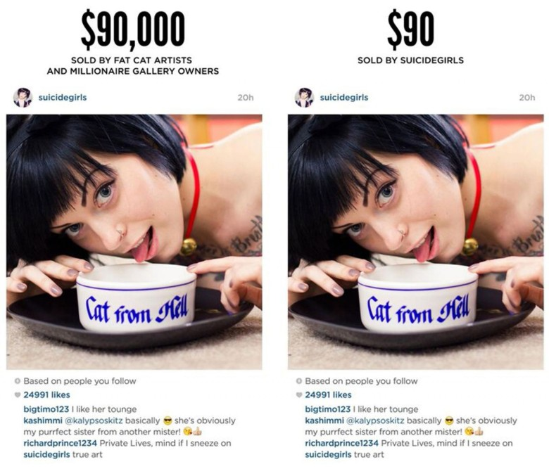 Richard Prince sold and Instagram screen shot for thousands, but the original owner will sell it on a deep discount.