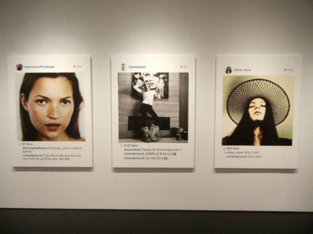Injet prints made by Richard Prince on exhibit in New York sold for thousands.
