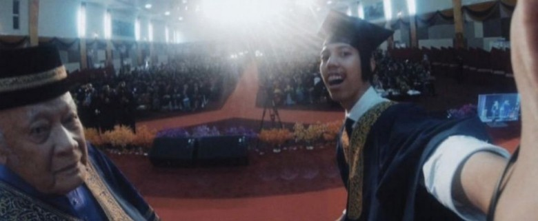 This selfie during a recent graduation in Malaysia earned the student a suspension from the university.