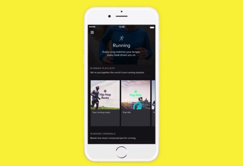 Spotify wants to make you a harder, better, faster, stronger runner.