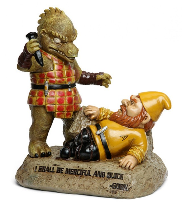 Star Trek fan can put this famous scene between Gorn and Kirk in their garden.