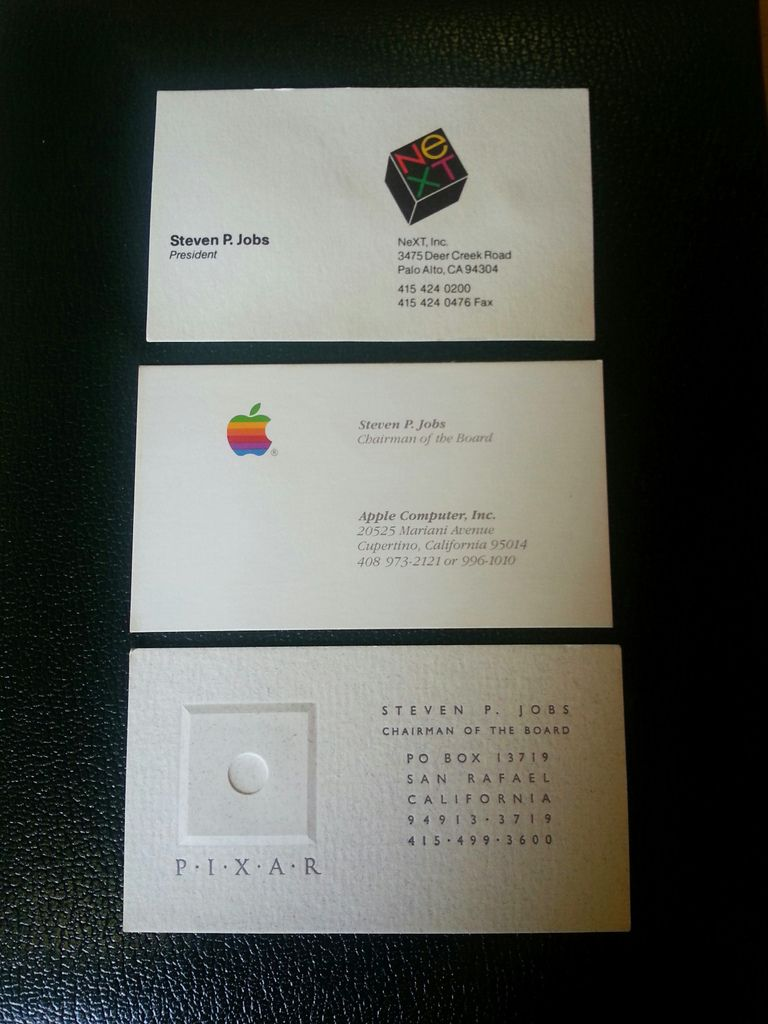 Steve jobs business cards sell for 10000 reheart Choice Image