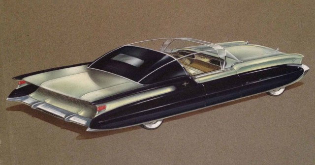 Proposed Packard show car by Ben Kroll or Richard Arbib, early 1950s. Photo: American Dreaming
