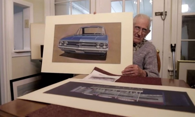 Rodell Smith, who worked as an illustrator for three different car companies from 1950 to 1989. Photo: American Dreaming/YouTube