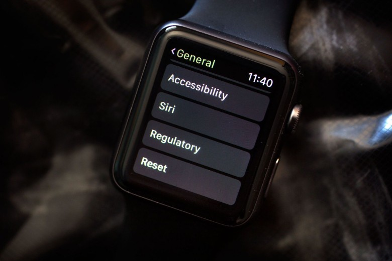 Apple Watch reset