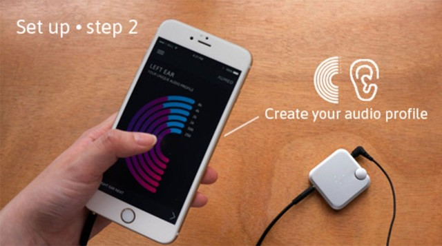 A companion app helps you profile your hearing and sets the levels.