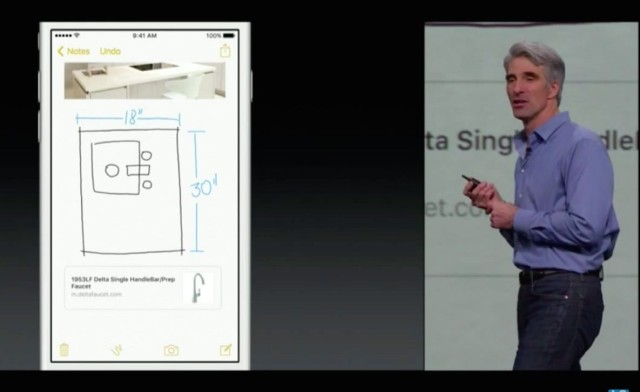 Drawing has been added to iOS 9's Notes app.