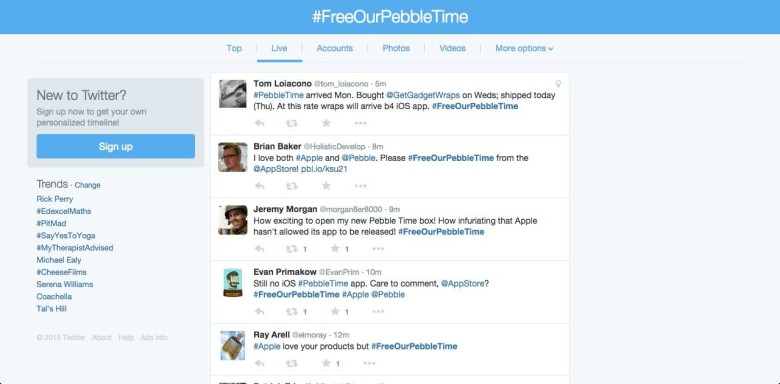 Pebble Time Twitter