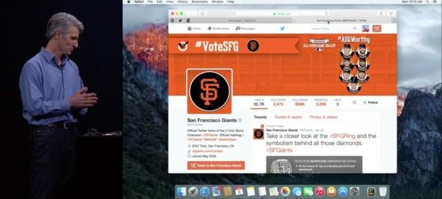 Craig Federighi demos Safari improvements in OS X El Capitan.