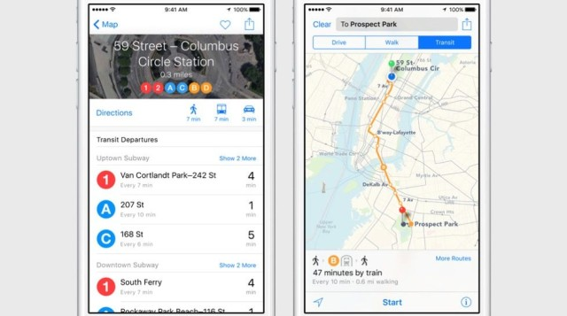 Transit directions are coming to Maps in iOS 9.