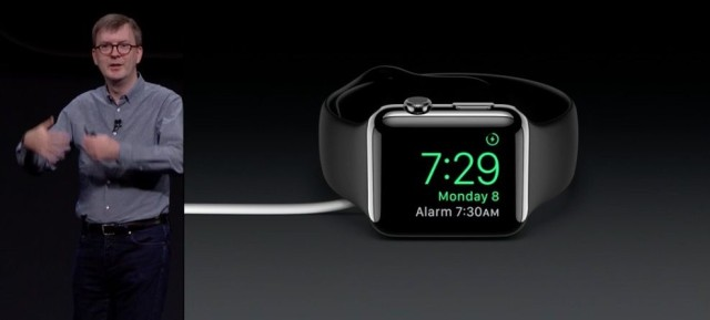 Apple Watch night stand mode WWDC 2015